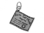 Sterling Silver Birth Certificate Charm