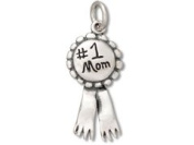 Sterling Silver #1 Number One Mom Charm