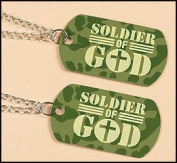 Soldier of God Dog Tag with 60cm Metal Chain