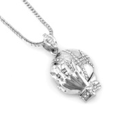 Hip-Hop Iced Silver Tone Best Basket Ball Player Pendant Necklace Free 60cm chain