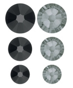 . 90 Piece FlatBack Crystals Value Pack, Jet and Diamond by Create Your Style