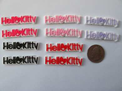 10 Mix Kawaii Resin Cabochon Flat Back HK Letter for Scrapbook, Cell Phone...
