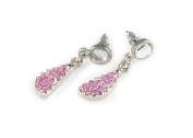 Viva Beads Pink Paradise Earrings   Dangled Post   - Handmade Clay Beads Jewellery 05903022