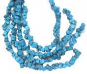 Bead Collection 40179 Semi Precious RectangleTurquoise Chips Beads, 20cm