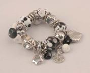 Black and White Beads Bracelet-049-40495
