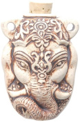 Peruvian Hand Crafted Ceramic High Fire Ganesh Bottle Pendant