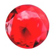 Giant Deep Ruby Red Cut Glass Diamond Jewel