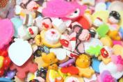 50 pcs Mixed Food kawaii flat back resin cabochons DIY decoration Cell Phone Nail Art Beauty Ornament Design hair snap beads