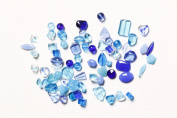 Bravery Dazzle JTMIX-3 Pressed Glass Beads, Blue