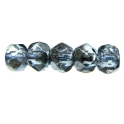 Mode Beads Czech Glass Fire Polished Beads, 300 Beads, Mirror Montana