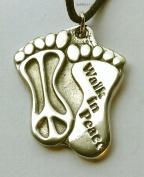 Walk in Peace - Pewter Pendant Jewellery - World Peace Necklace