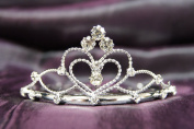 Princess Bridal Wedding Tiara Crown with Crystal Heart C16055