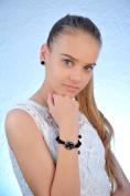 Watch, Necklace Earrings Set Black Lana