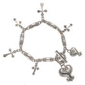 Alexa's Angels Love Is... Cross Charm Bracelet