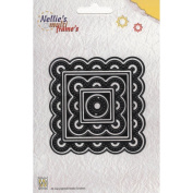 Nellie's Choice Multi Frame Dies- MFD033 Square Stitching Package Has 8 Dies - Circle Centre and 7 Squares
