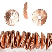 Rose Gold Plated Copper Bead Round Wiggle Disc Approx. 6mm Approx. 8 inch