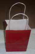 Red Paper Bags with Handle Medium 12/pack 5.5x3.5x8