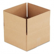 Universal - Corrugated Kraft Fixed-Depth Shipping Carton, 12w x 12l x 6h, Brown, 25/Bundle