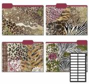Karen Foster Design Decorative File Folders Modern Safari, 8 Folders