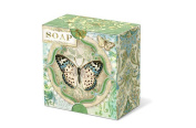 Punch Studio Everyday Pleat-Wrapped Boxed Soaps - Green Butterfly 50052