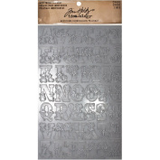 Cirque Industrious Stickers by Tim Holtz Idea-ology, 43 Alphabet Stickers, 2.5cm Tall, Metallic, TH93082