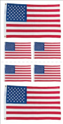 Paper House Productions Photo Real Stickypix Stickers, 5.1cm by 10cm , United States Flag