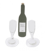 Jolee's By You-Silver Champagne Flutes