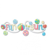 Jolee's Boutique A Day At The Beach Title Wave Stickers-Fun In The Sun