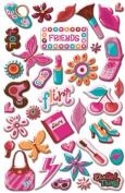 Flirt Epoxy Stickers