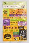 K & Company Tim Coffey Halloween Embossed Stickers