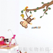 DIY Monkey Banana Tree Animal Wall Sticker Decals LW955