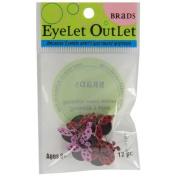 Eyelet Outlet Shape Brads-Love Bug 12/Pkg