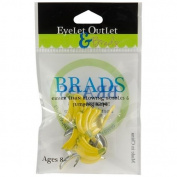 Eyelet Outlet Shape Brads-Banana 12/Pkg