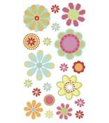 Sticko Vellum Stickers-Pretty Floral Glitter