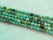 "Green Chrysoprase Beads Gemstone 4mm Facted Round 15.5"" Strand Finding Charms Jewellery Making & design Beading"