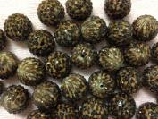 10pc 22mm Brown Leopard Rhinestone Animal Print Gumball Chunky Bubblegum Beads Bracelet Earrings Necklace Beading Supplies