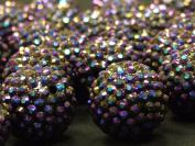 Purple Disco Ball Beads Large Craft Bracelet Necklace Jewellery Rave Kandi Beads