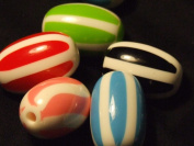 Candy Cane Beads - assorted lot of 10