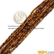 "GEM-inside 2mm round tiger eye seed beads strand 15"""