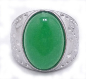 Chinese Jade Ring with Copper Tach