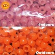 UV Colour Changing Beads - Magenta to Orange 250 per Pack