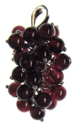Bead Collection 41357 Sterling Silver Garnet Vine Pendant Bead, 4mm