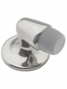 "idh by St. Simons 13007-014 Professional Grade Quality Genuine Solid Brass Mini Stop ""Gooseneck"" Door Stop, Bright Nickel"