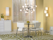 Zuo Modern Galaxy Dining Table, Chrome