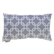 Majestic Home Goods Links Pillow, Small, Grey