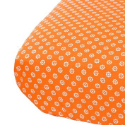Oliver B City of Dreams Crib Sheet - Orange/Grey/White
