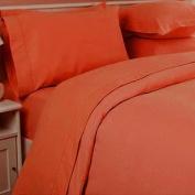 JS Sanders 1500 Series Microfiber Full Size 4pc Bed sheet set, Rust
