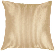 Surya PC-1005 Machine Made 100% Poly Satin Cream 46cm x 46cm Decorative Pillow