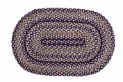 IHF Country Jute Braided Oval Area/Accent Rug for sale Checkerberry