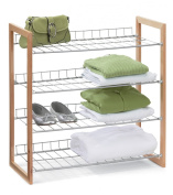 Honey-Can-Do SHO-01384 4-Tier Closet Accessory Shelf, Wood Frame